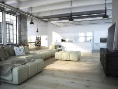 Light Filled Loft Interior Design Window Treatments