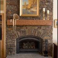 Living Room Brick Fireplace Decorating
