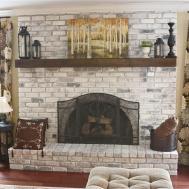 Living Room Brick Fireplace Decorating