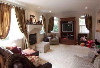 Living Room Corner Fireplace Decorating