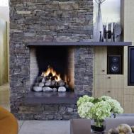 Living Room Great Stone Fireplaces Home Interior