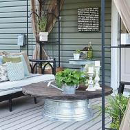 Liz Marie Blog Patio Before After Decorating Ideas