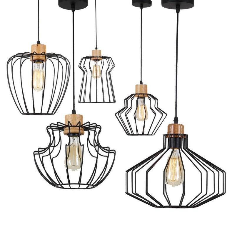 Loft Pendant Lamp Diy Industrial Ceiling Light Geometric