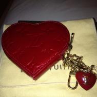 Louis Vuitton Monogram Vernis Heart Shaped Coin Purse
