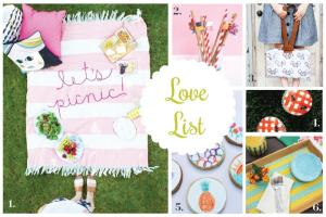 Love List Picnic Crafts
