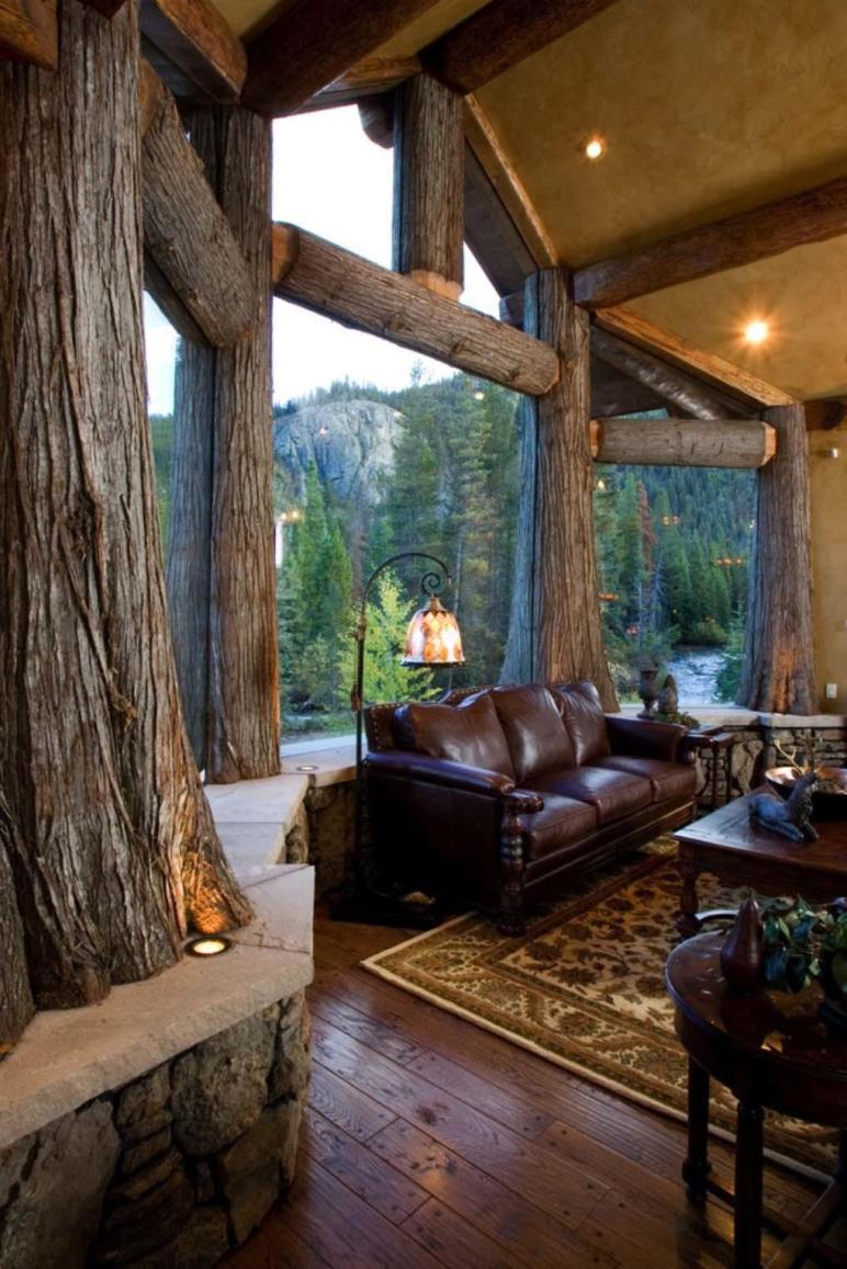 Luminous Modern Living Rooms Showcasing Forest Views