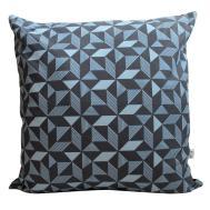 Lux Geometric Navy Panama Cushion Cover Handmade