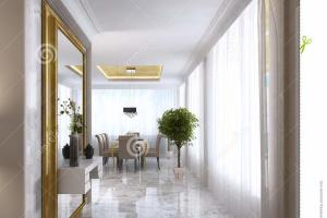 Luxurious Art Deco Entrance Hall Large Designer