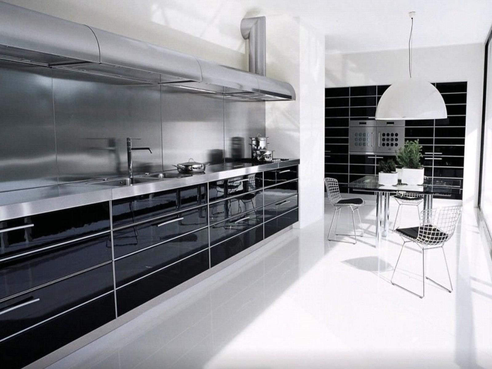 Luxury Modern Industrial Gloss Black White Kitchen Design
