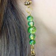 Make Beautiful Gold Beaded Earrings Diy Style