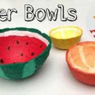 Make Bowl Shredded Paper Diy Watermelon