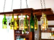 Make Chandelier Old Wine Bottles Tos Diy