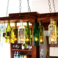 Make Chandelier Old Wine Bottles Tos Diy
