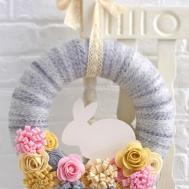 Make Felt Easter Bunny Wreath Hobbycraft Blog