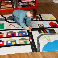 Make Kid Activity Rug Tos Diy