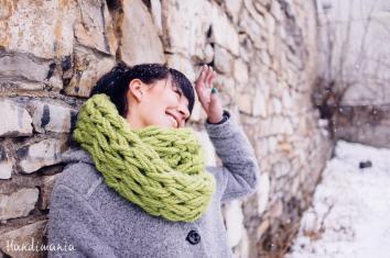 Make Minute Infinity Scarf Knit Handimania