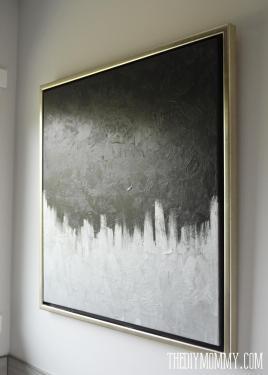Make Modern Artwork Thrift Store Canvas Art Diy