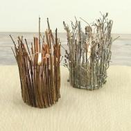 Make Rustic Twig Candle Holder Home Decorating Trends