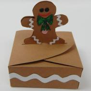 Make Small Gingerbread Man Christmas Gift Box Diy