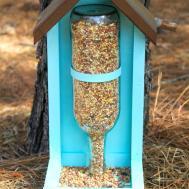 Make Wine Bottle Bird Feeder Down Home Inspiration