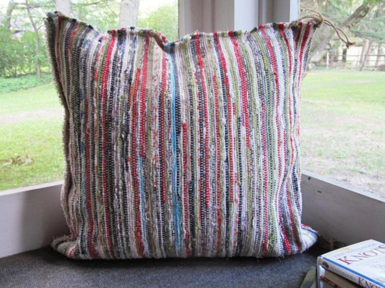 Make Your Own Heavy Duty Rag Rug Floor Pillows