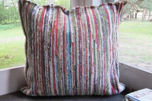 Make Your Own Heavy Duty Rag Rug Floor Pillows