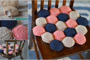 Make Your Own Hexie Puff Seat Cushion Decor Home