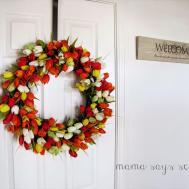 Mama Says Sew Diy Spring Tulip Wreath