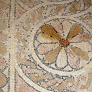 Masada Byzantine Church Floor Mosaic David