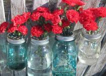Mason Jar Hanging Flower Vases Frog Diy Lids