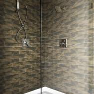 Memphis Dark Brown Brick Wall Floor Tile