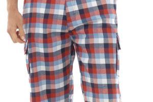 Mens Summer Shorts Casual Check Chinos Pants