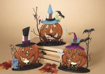 Metal Glitter Pumpkin Candle Holder Fall Halloween