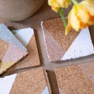 Metallic Color Block Coasters Diy Appealing Plan