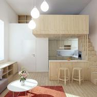 Mezzanine Design Small Apartment Elegant