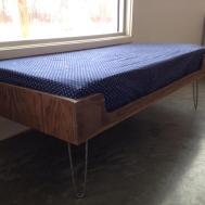 Mid Century Modern Minimalist Plywood Window Seat Hairpin