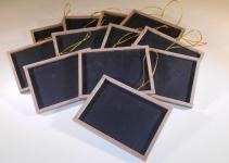 Mini Chalkboards Wood Frame