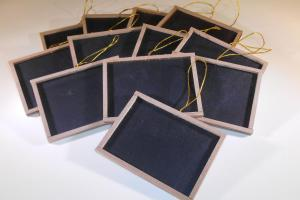 Mini Chalkboards Wood Frame