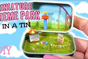 Mini Fair Theme Park Tin Tutorial Diy