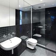 Minimalist Interior Decor Coupled Black Bathroom