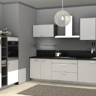 Minimalist Kitchen Cabinets Grey Walls