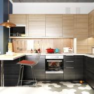Minimalist Kitchen Designs Decorated Wooden Accent