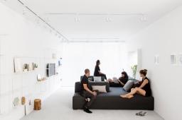 Minimalist Monochromatic Apartment Tel Aviv Design
