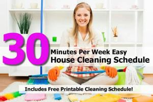 Minutes Per Week Easy House Cleaning Schedule