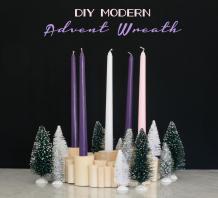Modern Advent Wreath Wills Casawills Casa
