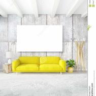 Modern Bedroom Yellow Sofa Luxury Minimal Style Interior