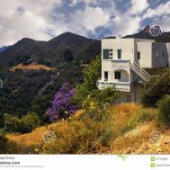 Modern California Dream House Mountains Royalty
