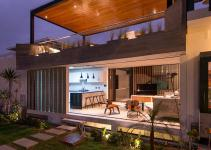 Modern Concrete Beach House Design Rooftop Terrace