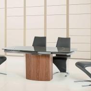 Modern Extendable Walnut Base Dining Table Vg137