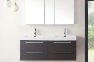 Modern Floating Double Bathroom Vanity Set High Features